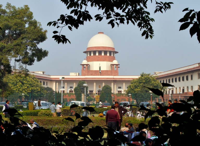 A view of the Indian Supreme Court building is seen in New Delhi