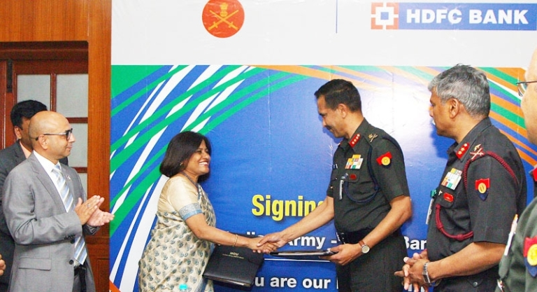 MoU-IndianArmy-HDFC